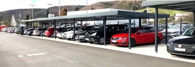 Dreier-Carport und Reihencarport