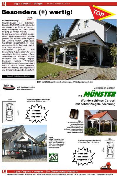 Carport MÜNSTER mit Satteldach