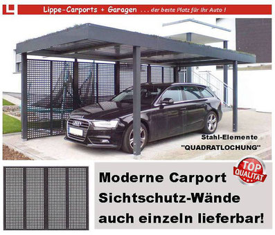 Exclusive Wand-Elemente für Carports