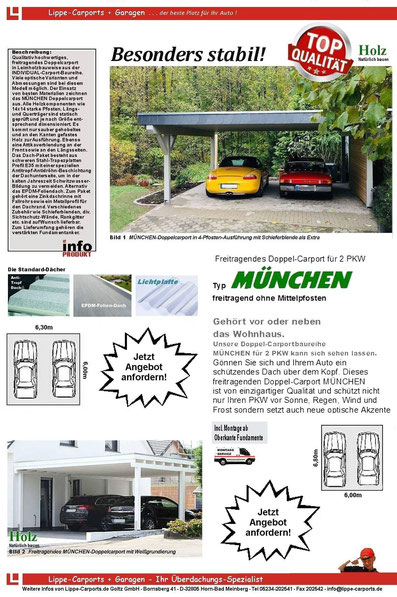 Individual Doppelcarport MÜNCHEN Flyer