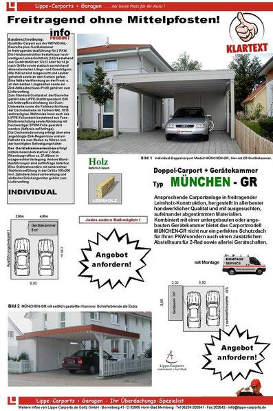 Individual Doppelcarport MÜNCHEN GR Prospektblatt