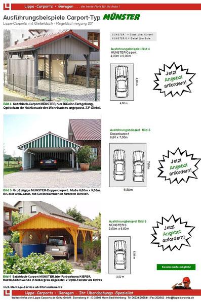 Giebeldach-Carport MÜNSTER Flyer Seite 2