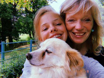 Hilia mit Cecilia & Calia - 2019 in Goethes Garten, Weimar