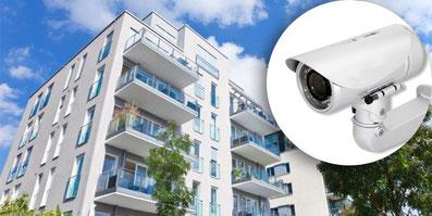 Master srl impianti elettrici civili Milano installa sistemi di videosorveglianza del condominio con videocamere di sicurezza
