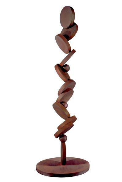 Xème Commandement - Responsable, tu seras (De la finalité des commandements) Acier patiné et verni 310cm, socle 100cm (Collection particulière Canada)