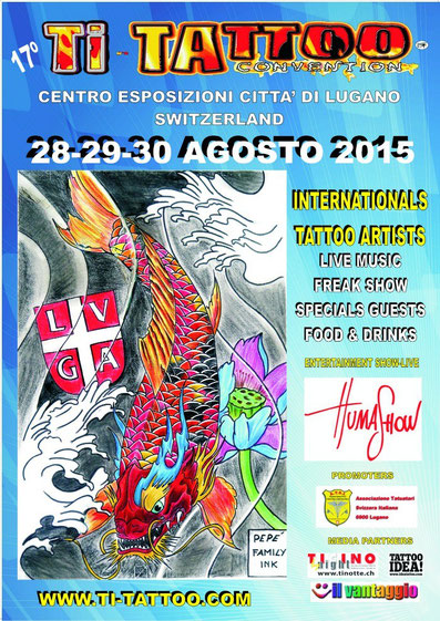 Mauri Manolibera Tattoo presene al Tattoo-Convention Lugano 2015