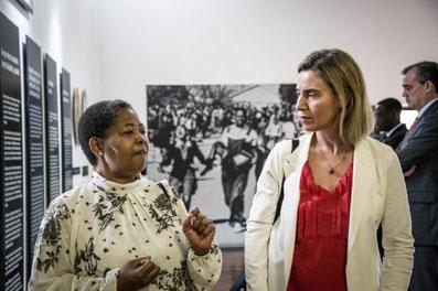 Federica Mogerini with Antoinette Sithole
