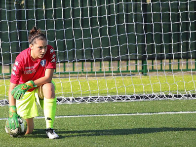 Alice Lugli, portiere di calcio femminile Empoli Ladies. Mental Training e Sport Vision. Giorgio Sola