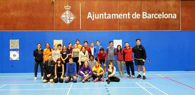 Barcelona bàdminton La Mar Bella. Mental training e Sport Vision, Giorgio Sola ©