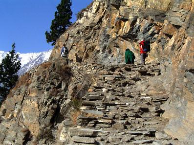 Unterwegs im Kali Gandaki Tal; Foto: © Klaus Hessenauer