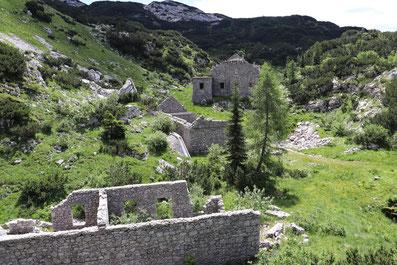 Überreste Gebäude 1. Weltkrieg Triglav Nationalpark