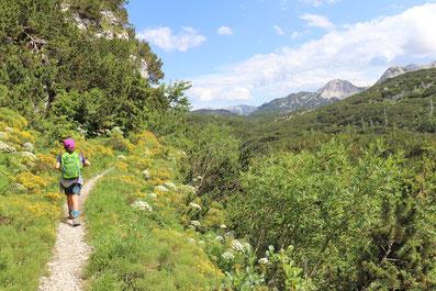 Abstieg Bogatinom Hütte