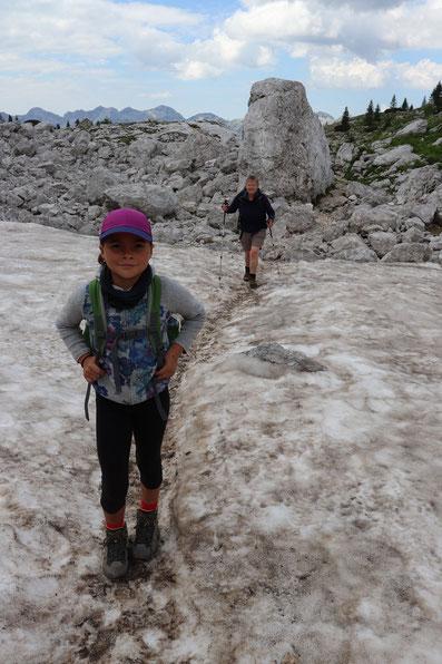 Schneefeld Triglav Nationalpark