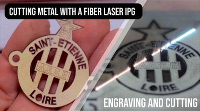 Laser engraving machine cutting metal