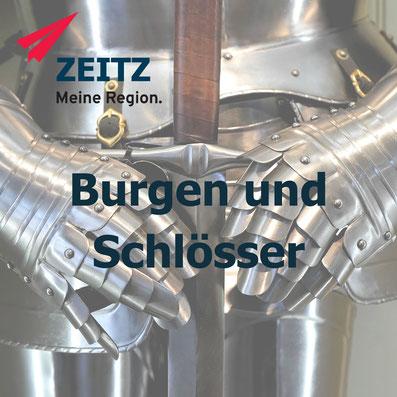 Burgen und Schlößer im Burgenlandkreis in der Region Zeitz in Sachsen Anhalt