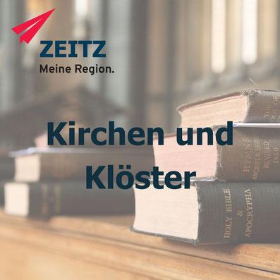 Kirchen, Klöster und andere sakrale Gebäude im Burgenlandkreis Sachsen Anhalt in der Region Zeitz