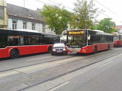 ウィーン路線バスの事故現場 - ...