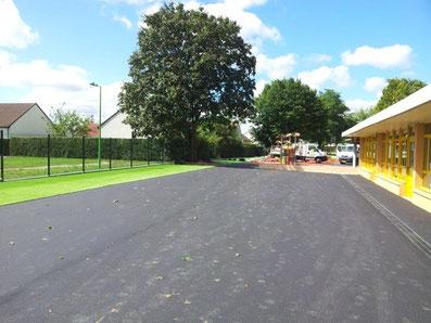 Cour d'école - piste cyclable - TTA