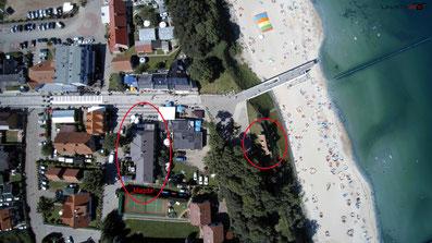 Drohnenaufnahmen Luftbild Drohnenbild Ostsee