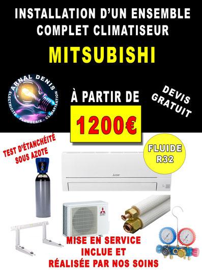 pose climatisation mitsubishi 34260