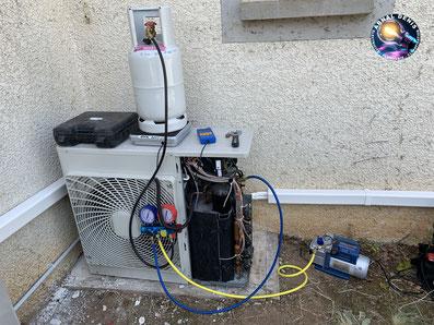 recharge fluide frigorigene climatisation maison la tour sur orb 34260