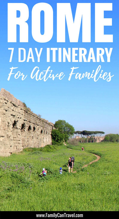 Rome - 7 Day Itinerary For Active Families with Small Kids - read more at www.FamilyCanTravel.com | Family Travel | Rome with kids | Toddler Travel | #familytravel #toddlertravel #rome #italy #travelwithkids
