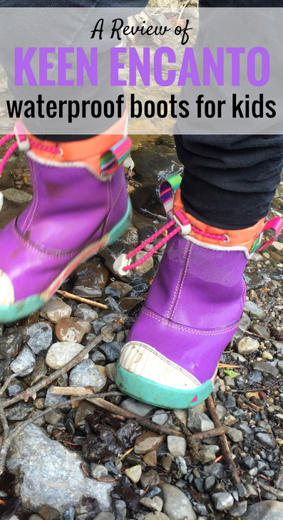 A review of the Keen Little Kid's Encanto Waterproof Boots. A boot you and your kids will love! Read more at www.FamilyCanTravel.com