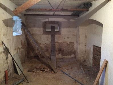 Toilettenbau am Kuhstall vorher