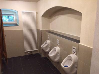 Toilettenbau am Kuhstall nachher