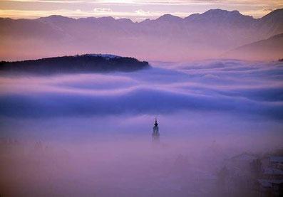 Conco tra la nebbia