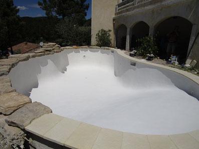 enduit silico-marbreux blanc
