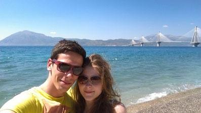 Melanie Ohme und Nikolas Lubbe in Patras, Griechenland
