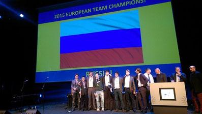 Siegerehrung Mannschaftseuropameisterschaft Schach 2015
