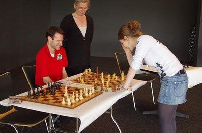 Melanie Lubbe (geb. Ohme) mit Thorsten Ostermeier beim Frankfurter Familiensportfest 2013