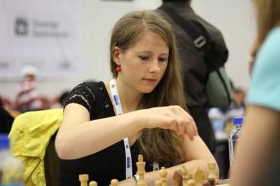 Melanie Ohme bei der Schacholympiade 2014