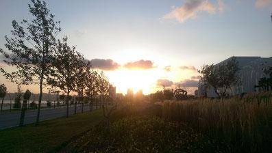 Sonnenuntergang in Baku