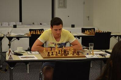 Der Turniersieger Nikolas Lubbe, Lüneburger Schachfestival 2015
