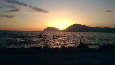 Sonnenuntergang, Patras, Griechenland