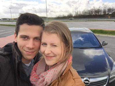 Nikolas und Melanie Lubbe auf dem Weg zum Sondex Cup