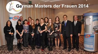 Teilnehmerinnen, Gruppenbild, German Masters der Frauen 2014 in Dresden
