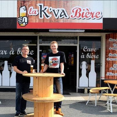 Philippe et Theo Pouilloux de la K'va bière de Melle 79500