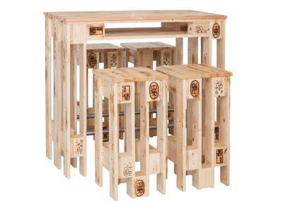 Europalettenmöbel Möbel aus Europaletten Theke Tresen Barhocker