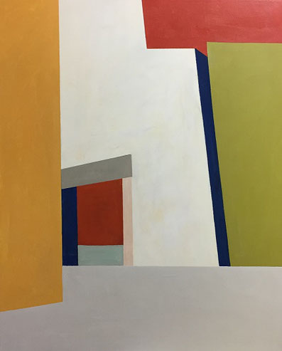 Farbräume 2, Acryl, 100 x 80 cm, 2018