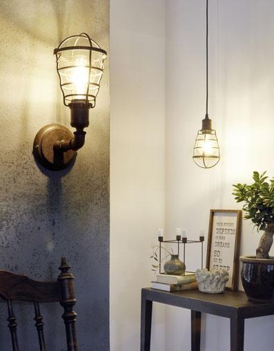Edle Vintage Leuchten für ein stilvolles Zuhause, rostbraune industrial Leuchte