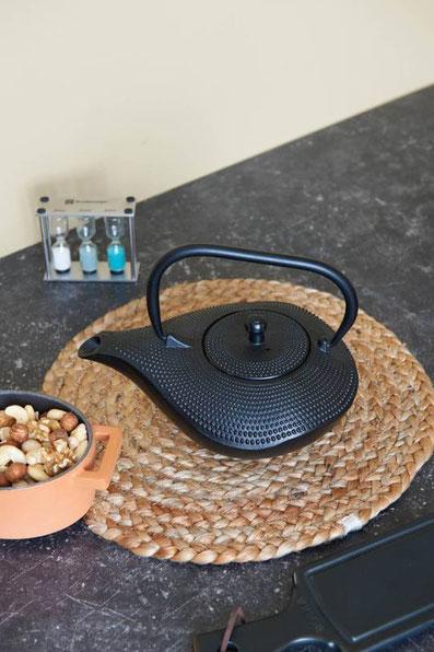 Teekanne aus Gusseisen, Teekanne im asiastil, Aladdin Wunderlampe Teekanne