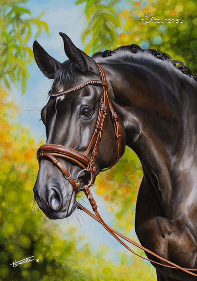 Wunderschöne Pferdegemälde