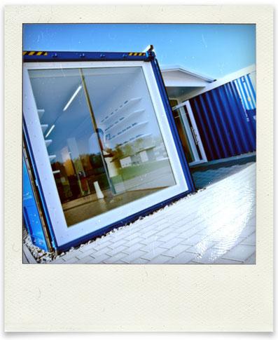 """Der """"Sehcontainer"""" ist fertig und wird im April 2011 eröffnet"""