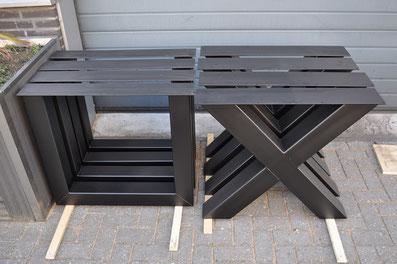 Industriele Tafel Poten : Industriele tafelpoten salontafel industriële salontafelpoten