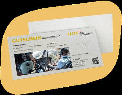 Elite Flights Gutschein Helikopterflug, Rundflug, Helikopter fliegen,  Schnupperflug, selber Helikopter fliegen