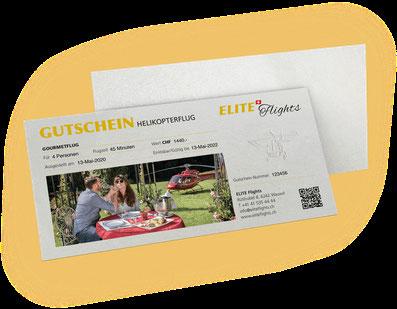 Elite Flights Gutschein Helikopterflug, Rundflug, Gourmetflug, Romantikflug, Helikopterrundflug